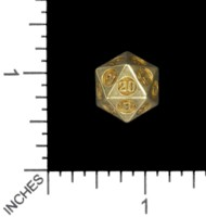 Dice : MINT56 TRAYSER METAL WORKS BRASS D20 CIRCUMSCRIBED