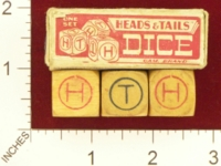 Dice : MINT21 GAM BRAND HEADS AND TAILS