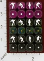 Dice : MINT26 CHESSEX CUSTOM FOR EBAY RACERSKA MONSTERS AND ZOMBIES 01