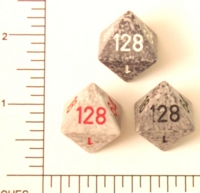 Dice : D8 OPAQUE ROUNDED SPECKLED KOPLOW DOUBLING