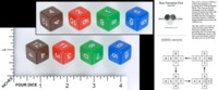 Dice : MINT55 MATHARTFUN EFRONS DICE NON TRANSTIVE