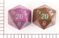 Dice : D20 OPAQUE ROUNDED SPECKLED WITH METAL 1