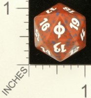 Dice : D20 OPAQUE ROUNDED SPECKLED MTG LIFE COUNTERS NEW PHYREXIA 01