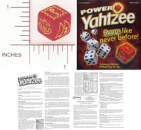 Dice : NON NUMBERED OPAQUE ROUNDED SOLID WINNING MOVES POWER YAHTZEE POWER DIE