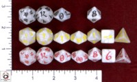 Dice : MINT47 Q WORKSHOP CLASSIC ELVEN IRIDESCENT WHITES