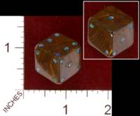 Dice : STONE D6 TIGERS EYE AND OPAL 01