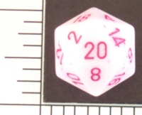 Dice : D20 OPAQUE ROUNDED SPECKLED WITH PURPLE 1
