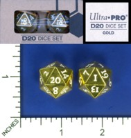 Dice : MINT58 ULTRA PRO D20 DICE SET YELLOW LIGHT