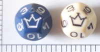 Dice : D12 OPAQUE ROUNDED SOLID 2
