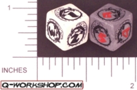 Dice : NUMBERED OPAQUE ROUNDED SOLID Q WORKSHOP DRAGON RERELEASE 01