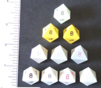 Dice : D8 OPAQUE SHARP SOLID 2
