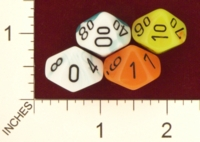 Dice : D10 TRANSLUCENT ROUNDED IRIDESCENT SWIRL CHESSEX 2009 GEMINI 01