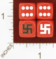 Dice : MINT26 CHESSEX CUSTOM FOR EBAY RACERSKA SWASTIKA 01