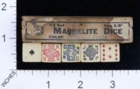 Dice : MINT1 MARBELITE POKER 01