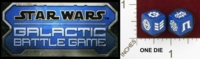 Dice : MINT25 HASBRO STAR WARS GALACTIC BATTLE GAME 01