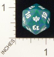 Dice : D20 MTG OPAQUE ROUNDED SPECKLED WIZARDS OF THE COAST MTG CONCLUX 05
