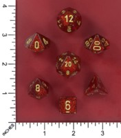 Dice : MINT52 CHESSEX 2016 COLORS GLITTER RUBY