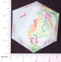Dice : PAPER D20 3 ICOEARTH 04