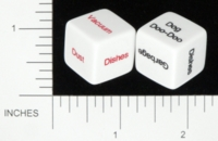 Dice : NON NUMBERED OPAQUE ROUNDED SOLID SCENARIODICE DOT COM 01 CHORE DICE