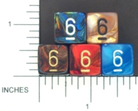 Dice : NUMBERED OPAQUE ROUNDED IRIDESCENT CHESSEX MENAGERIE 01