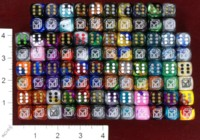 Dice : MINT37 CHESSEX DICE MANIACS CLUB LOGO OLD 04 IRIDESCENT SWIRL