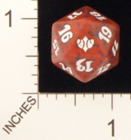 Dice : D20 OPAQUE ROUNDED SPECKLED MTG LIFE COUNTERS CONCLUX 01