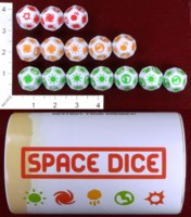 Dice : D12 OPAQUE ROUNDED SOLID SPACE DICE