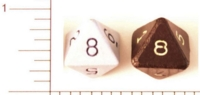 Dice : D8 OPAQUE SHARP SOLID 1