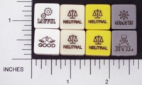 Dice : NON NUMBERED OPAQUE ROUNDED SOLID CHESSEX ALIGNMENT 01