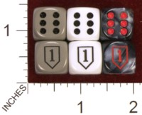 Dice : MINT34 JSPASSNTHRU US ARMY 1ST INFANTRY 01