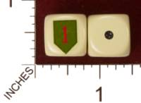 Dice : MINT29 YAK YAKS US ARMY 1ST INFANTRY DIVISION 01
