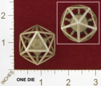 Dice : MINT25 SHAPEWAYS JVO CHAINED DIE 20 SIDED 01