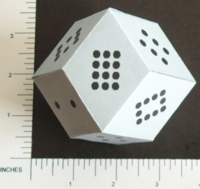 Dice : PAPER D12 MY DESIGN RHOMBIC DODECAHEDRON PIPPED