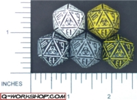 Dice : D20 OPAQUE ROUNDED SOLID Q WORKSHOP NEURO 01