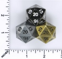 Dice : MINT52 FOAM BRAIN GAMES METALS II LARGE COUNTDOWN D20S