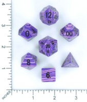Dice : MINT54 METALLIC DICE GAMES PURPLE WAVE