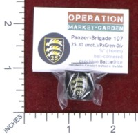 Dice : MINT48 BATTLESCHOOL BATTLEDICE OPERATION MARKET GARDEN GERMAN PANZER BRIGADE 107 25 ID