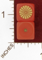 Dice : MINT28 NERO GAMING DICE AXIS JAPAN IMPERIAL SEAL 01