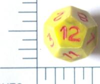 Dice : D12 OPAQUE SHARP SWIRL 2