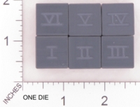 Dice : MINT18 ACE PRECISION ROMAN NUMERALS BLACK PVC 01