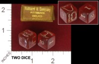 Dice : MINT32 HUBBARD AND COMPANY GOLF 01