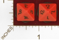 Dice : D8 OPAQUE ROUNDED SOLID CUSTOM RUNIC FOR ITALIAN CUSTOMER 01