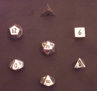 Dice : METAL SILVER MULTI 01 CRYSTAL CASTE 01