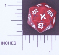 Dice : D20 OPAQUE ROUNDED SPECKLED MTG LIFE COUNTERS BETRAYERS 04