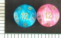 Dice : D12 OPAQUE ROUNDED IRIDESCENT CHESSEX EASTER