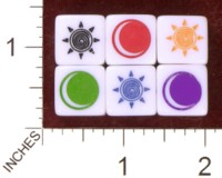 Dice : MINT35 FRONT RANGE GAMES THEMATIC FUDGE SUN AND MOON