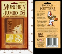 Dice : MINT28 STEVE JACKSON MUNCHKIN JUMBO D6 02