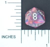 Dice : D8 OPAQUE ROUNDED SWIRL CHESSEX MENAGERIE 01