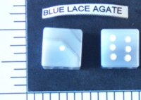 Dice : STONE D6 BLUE LACE AGATE