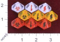 Dice : D10 OPAQUE ROUNDED SPECKLED KING ZOMBIE 01